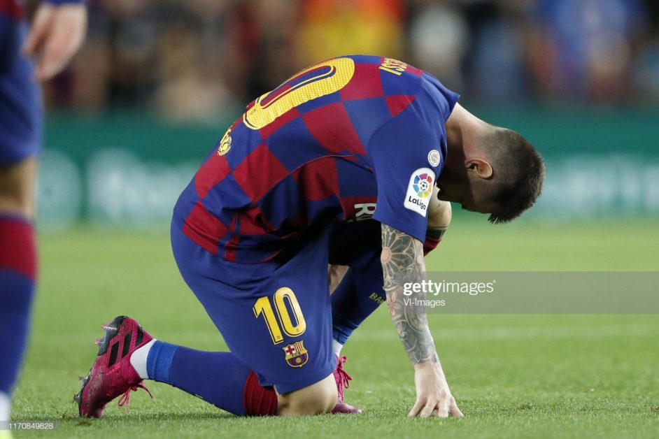 Messi sent early into the bench after a minor injury against Villareal
