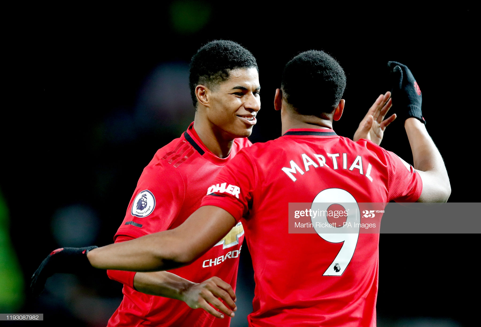 Rashford and Martial become first Man United pairing to hit 20 goals since CR7 and Tevez